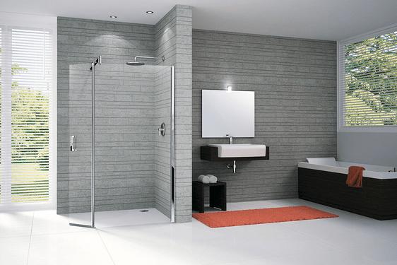 La douche à l\'italienne, la tendance salle de bain design - Dinetto