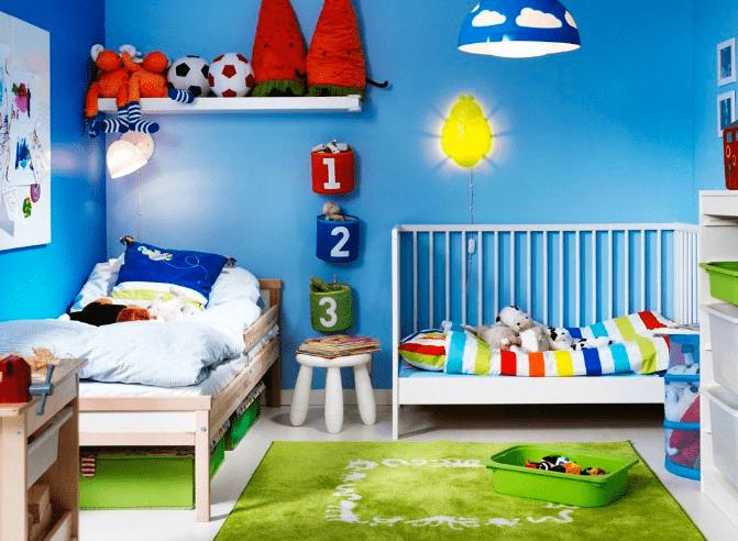 la chambre des enfants comment l am nager comment placer les lits dinetto. Black Bedroom Furniture Sets. Home Design Ideas