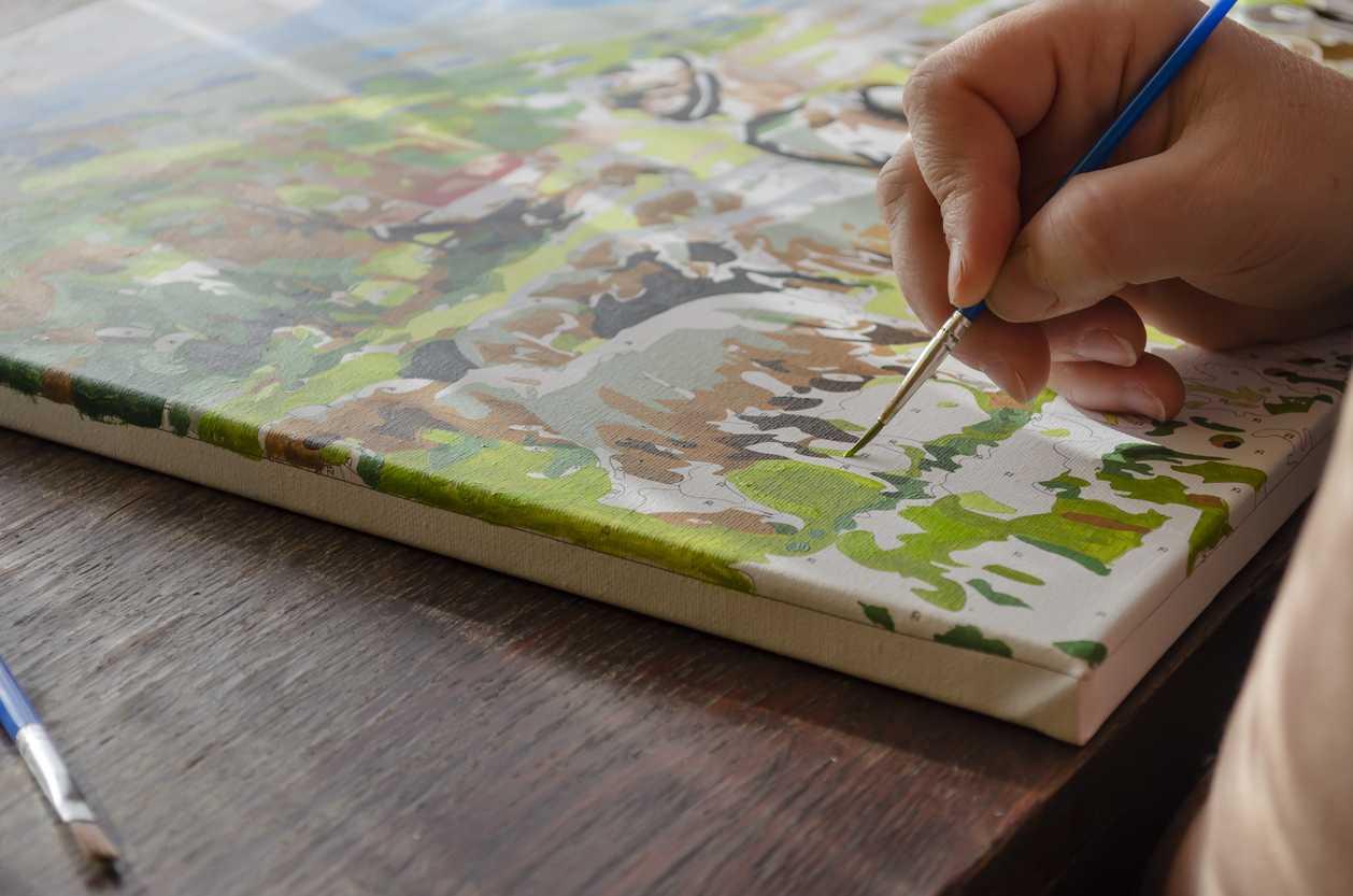 peinture par numéro décor DIY